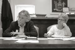 Hoosick Falls Mayor David Borge and illage Clerk Ann Marie Bornt.