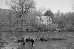 Testing fish for PFOA contamination, Walloomsac River, Bennington, Vt.