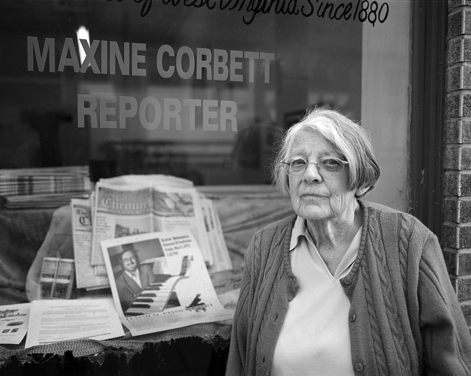 Maxine Corbett, The Nicholas Chronicle, Richwood, West Virginia