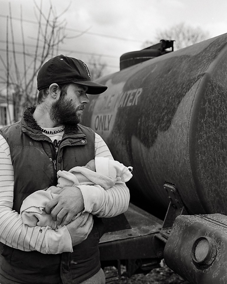​ Timothy Susee and daughter, Isabella May Simmons, Burdick Trailer Park, Pownal, Vt.